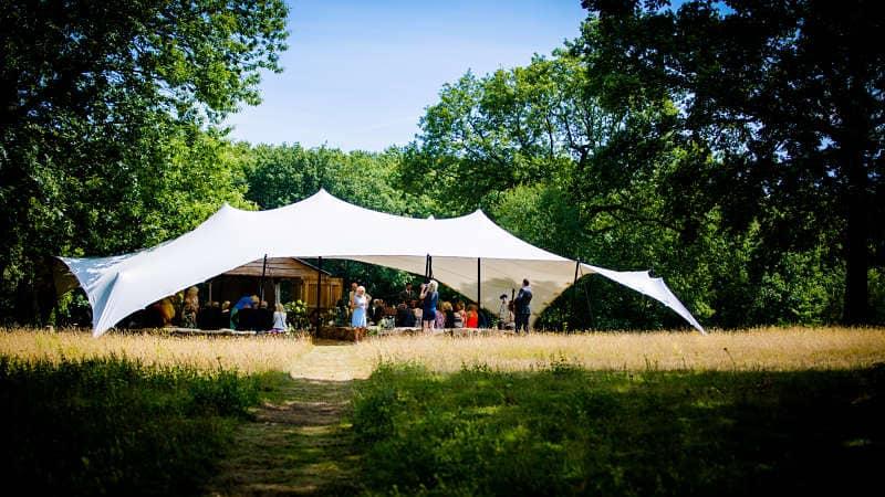 Stretch tent wedding venue marquee