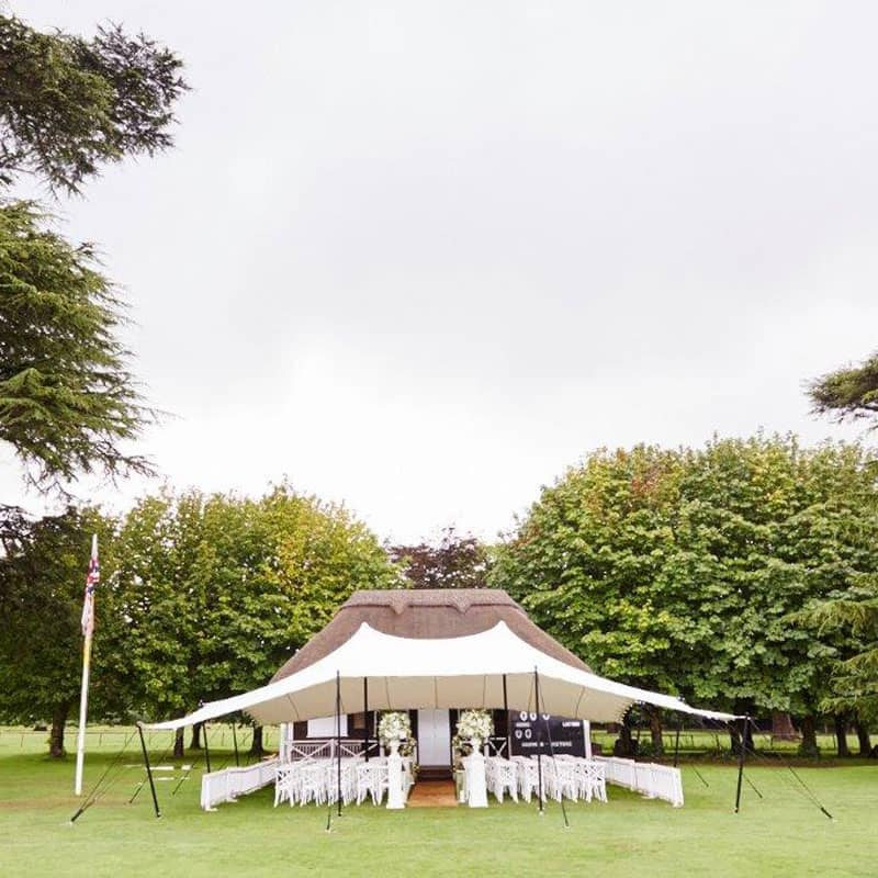 Open sided ceremony tent