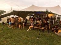 Festival bar stretch tent