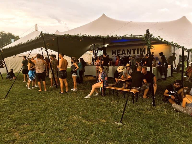 Festival bar stretch tent