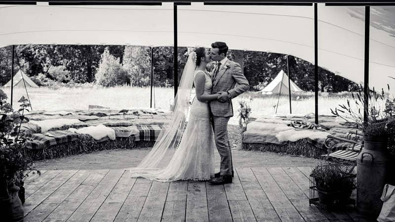 Festival marquee wedding