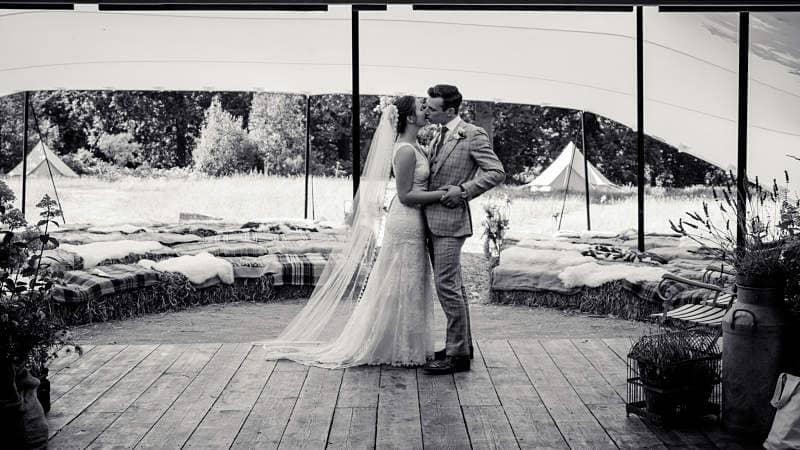 Festival marquee wedding