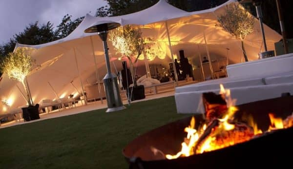Cosy marquee party