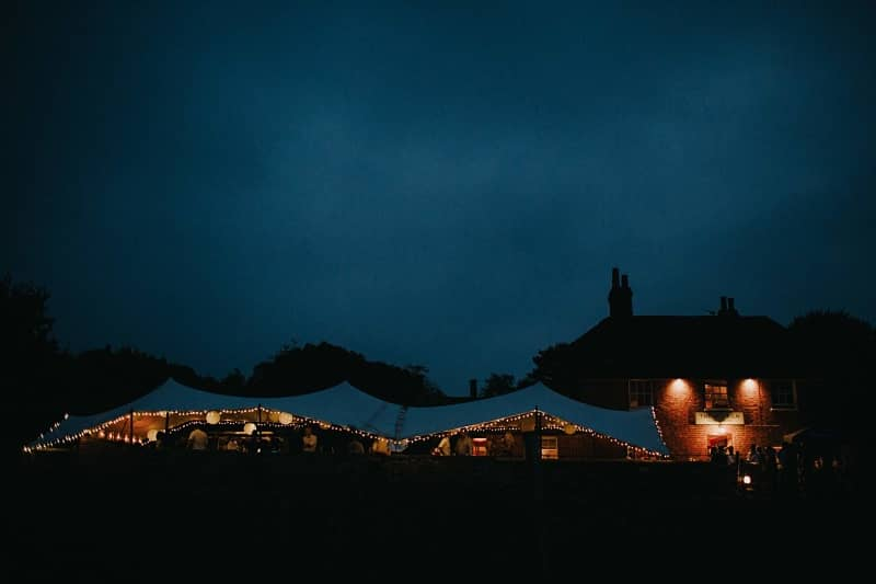 Pub marquee wedding