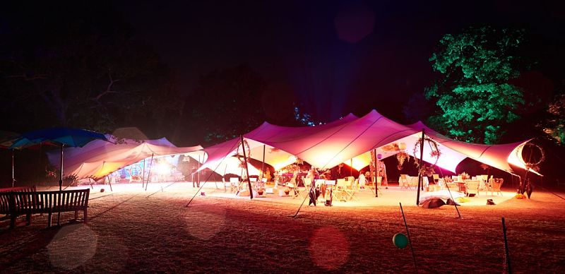 Stretch tent wedding party