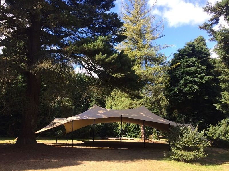 Forest school stretch tent