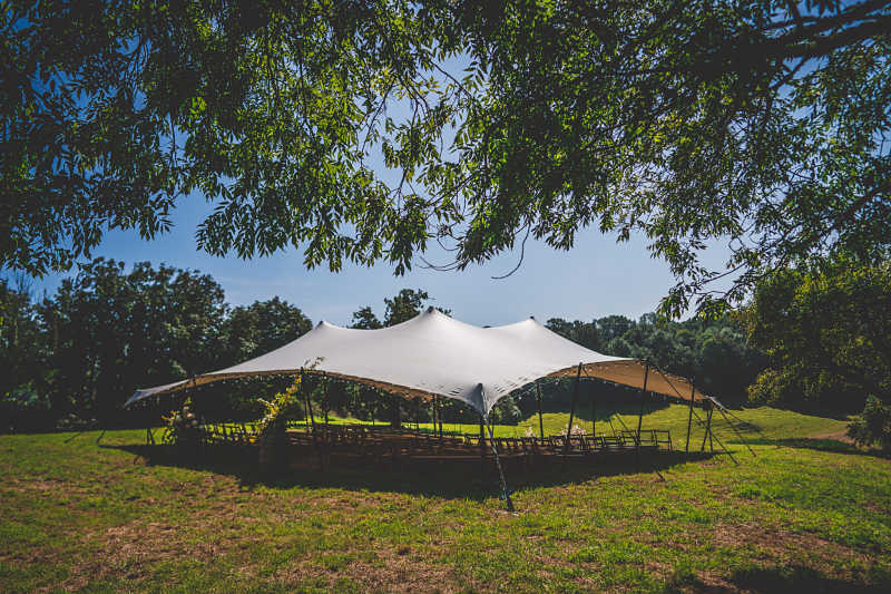 Stretch tent canopy
